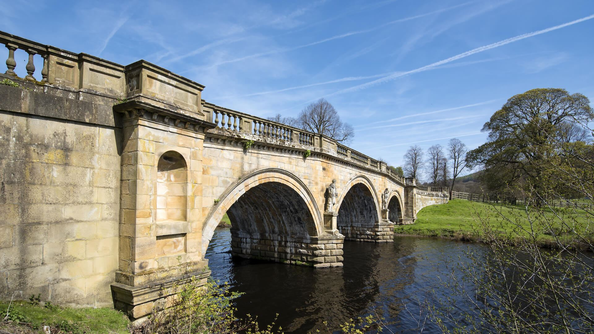 alt=Bridge At Chatsworth House Derbyshire
